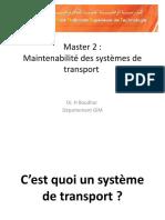 Maintenabilité des systèmes de transport V1
