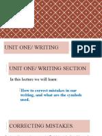 UNIT ONE- WRITING