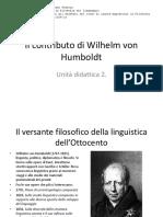 Il contributo di Humboldt