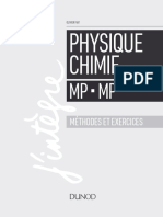 PHYSIQUE CHIMIE METHODE ET EXERCICES MP DUNOD 2018