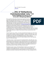 PressRelease_BattleofGettysburgCommemorated