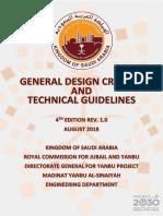 General Design Criteria & Technical Guidelines - REV . 01 - AUG 2018