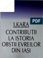 I. Kara - Contributii La Istoria Obstii Evreilor Din Iasi (1997)