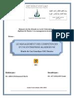 Abbas Mohamed Larbi Le Management Des Competences Dune Entreprise Algerinne