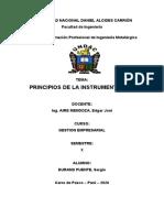 PRINCIPIOS DE LA INSTRUMENTACION