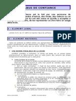 ABUS DE CONFIANCE EN FRANCE