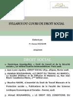 DROIT SOCIAL -Pr.ESSAGHIR Hassan Séance n°1