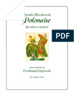 Oginski Moszkowski Gajewski Polonaise Les Adieux a La Patrie