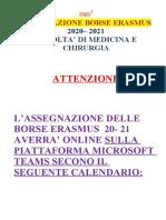 ASSEGNAZIONE BORSE 2020_2021 _ FACOLTA DI MEDICINA E CHIRURGIA