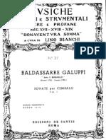 Galuppi Catalogo tematico (1969) Sonate e Concerti