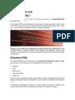 HTML Desarrollo Web