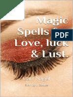 Feitico magico para o amor,sorte e luxuria  .Carl Nagel