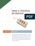TEMA 08 POLÍTICA DE PRECIOS