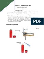 Determinacion Del Calor Practica de Laboratorio