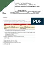 Plan Diario Matemáticas 1, Secundaria Bloque 3 2018-2019