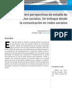 Un Enfoque Desde La Comunicación en Redes Sociales