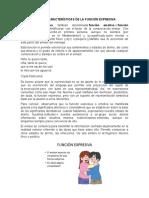 FORMAS CARACTERÍSTICAS DE LA FUNCIÓN EXPRESIVA
