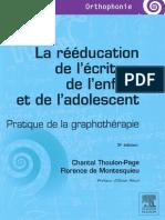 La rééducation de l'écriture de l'enfant et de l'adolescent 3e Edition - Elsevier Masson