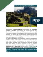 ARQUIECTURA INCA