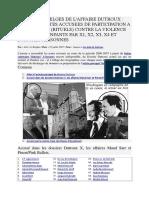 _DOSSIERS-X BELGES DE L_AFFAIRE DUTROUX- LISTE DES ELITES ACCUSEES DE PARTICIPATION A DES RESEAUX (RITUELS)
