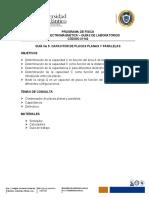 GUÍA No 5. CAPACITOR DE PLACAS PLANAS Y PARALELAS - FÍSICA ELECTROMAGNÉTICA (1)