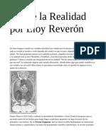 Sobre la Realidad por Eloy Reverón