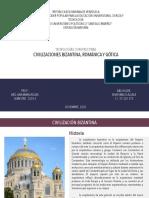 Civilizaciones Bizantina, Romanica y Gotica