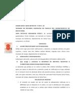 CONTESTACION DE LA DEMANDA EN SENTIDO NEGATIVO E INTERPOSICION DE EXCEPCION PERENTORIA