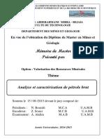 Analyse Et Caractérisation de Pétrole Brut.