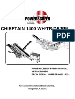 Chieftain 1400 Dry-Rinser Spares Manual