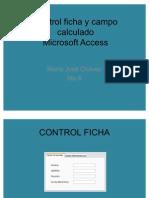 Control Ficha y Campo Calculado