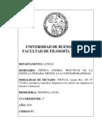 CRÍTICA ANFIBIA_ PRÁCTICAS DE LA CRÍTICA LITERARIA FRENTE A LA CONTEMPORANEIDAD - Tennina