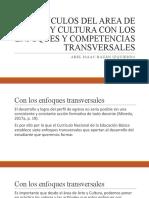 VINCULOS DEL AREA DE ARTE Y CULTURA CON COMPETENCIAS Y