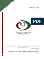 Informe Sobre Cobertura de Demanda Enero 2020