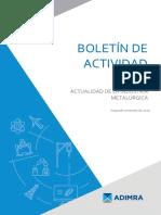 Informe actividad metalúrgica