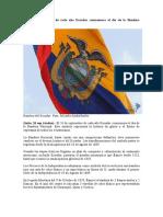 El 26 de septiembre de cada año Ecuador conmemora el día de la Bandera Nacional