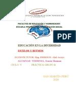Educación en La Diversidad Monografia