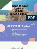 T6 Aqidah Samak & Basar