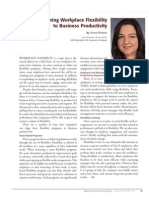 Diversity Journal | Aligning Workplace Flexibility to Business Productivity - Jan/Feb 2010