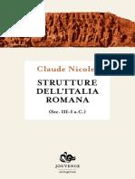 Claude Nicolet - Strutture Dell'Italia Romana (Sec. III-I- A.C.) (2014, Jouvence) - Libgen.lc