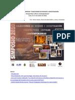 Simposio Colecciones de Museos e Investigación 2010