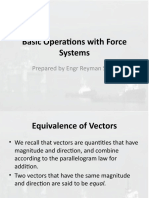 3. Basic Operations with Force Systems (Short)