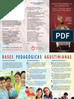 Bases pedagógicas agustinianas (tríptico)