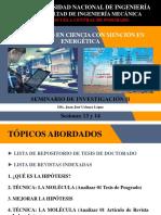 Seminario de Investigación II - Sesiones 13 y 14