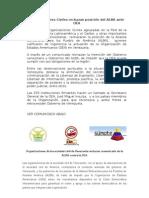 Comunicado de Prensa#3 Organizaciones contra Palabras del ALBA