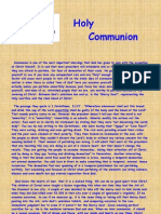 Facts on Communion