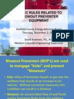 COGCC_Rules_Blow_Out_Preventer_Equipment_Presentation