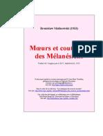 (1933) Malinowski, Bronislaw. Moeurs et coutumes de Melanésiens