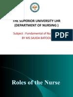 Role of Nurse