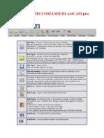 Artcam Pro-Glossario Comandi